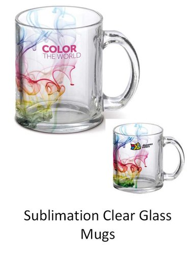 Clear Sublimation Glass Mugs